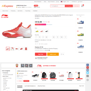 Li Ning Aliexpress Product
